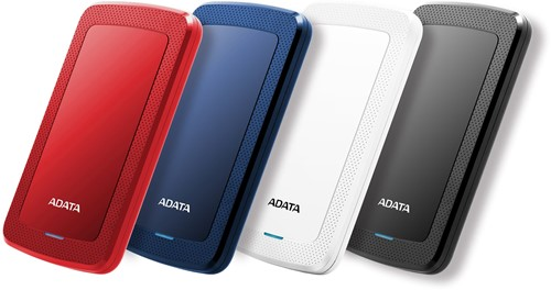 2TB Portable Hard Disk, USB 3.1, ADATA HV300, Red