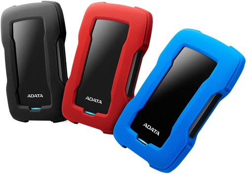 2TB Portable Hard Disk, USB 3.1, ADATA HD330, Red