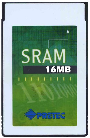 16MB SRAM Card-Type II-Plastic