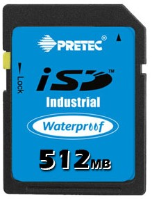 512MB Wide Temp Industrial SD Card