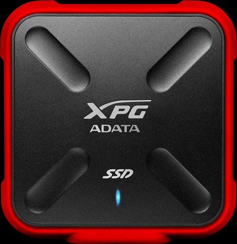 256GB External SSD, USB 3.1, SD700X, Red
