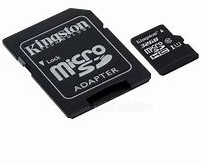16GB microSDHC Kingston Canvas Select 80R CL10 UHS-I Card + SD Adapter
