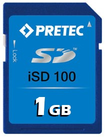 1GB Wide Temp Industrial SD Card, iSD100, -40°~ 85°