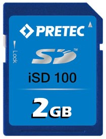 2GB Wide Temp Industrial SD Card, iSD100, -40°~ 85°