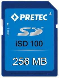 256 MB Wide Temp Industrial SD Card, iSD100, -40°~ 85°