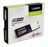 480GB Kingston KC1000 PCIe Gen3 x 4, NVMe SSD M.2 2280