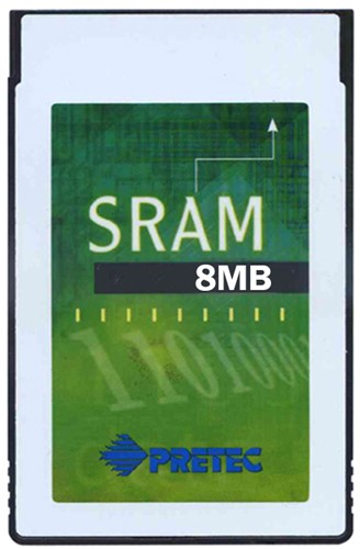 8MB SRAM Card-Type I-Plastic