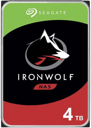 "Seagate 4TB Ironwolf 3.5"" HDD SATA 3.0 7200RPM 128MB Cache"