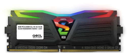 16GB (8GB*2) GEIL Super Luce RGB Sync Series DDR4 PC4-19200 2400MHz, CL16 Dual Channel, Black-2