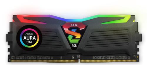 16GB (8GB*2) GEIL Super Luce RGB Sync Series DDR4 PC4-21330 2666MHz, CL16 Dual Channel, Black