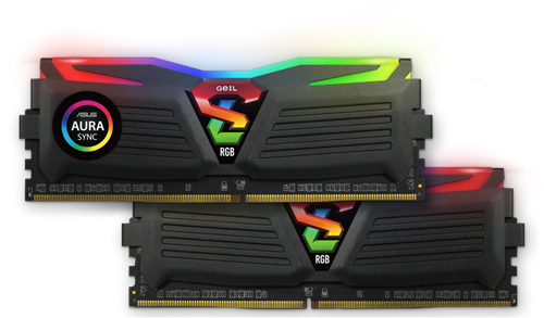 16GB (8GB*2) GEIL Super Luce RGB Sync Series DDR4 PC4-19200 2400MHz, CL16 Dual Channel, Black-3