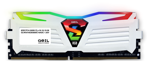 16GB (8GB*2) GEIL Super Luce RGB Sync Series DDR4 PC4-21330 2666MHz, CL16 Dual Channel, White-2