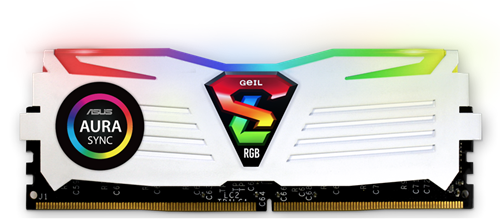 16GB (8GB*2) GEIL Super Luce RGB Sync Series DDR4 PC4-21330 2666MHz, CL16 Dual Channel, White