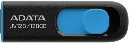 32GB USB Flash Disk Drive, USB 3.2, DashDrive UV128, Black/Blue