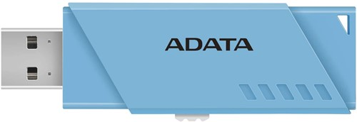 32GB USB Flash Disk Drive, USB 2.0, AUV230 Capless Sliding USB Flash Drive Blue