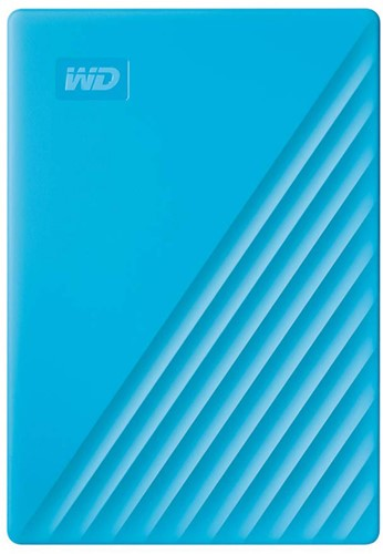 Western MY Passport 4TB External Portable Hard Disk, USB 3.0, Blue