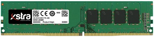4GB Xstra Memory upgrade, UDIMM DDR4, 2400MHz, CL17,